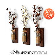Rustic wall decor.rustic home decor.reclaimed by MakariosDecor