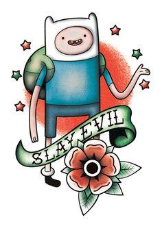 Adventure Time PlayPaks   Finn Tattoo