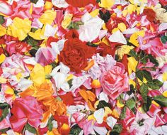 Petals (colored pencil, 32×40) by Gary Greene  #Flowers #Color