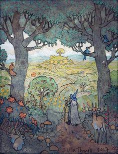 Ulla Thynell Hobbit Art, O Hobbit, Hobbit Hole, Jrr Tolkien, Illustrations, Illustration Art, Midle Earth, John Howe, Gandalf