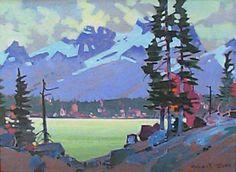 Artist: Robert Genn, Title: Emerald Lake Pattern Canadian Painters, Canadian Artists, Emerald Lake, Social Art, Mountain Landscape, Acrylic Art, Looks Cool, Fine Art Gallery, Art Techniques