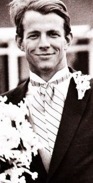 Peter Beard at his first wedding - looking incredibly dapper.