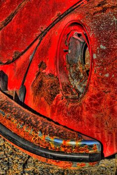 Red VW Rusted Love