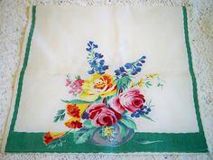 Vintage Wilendur Floral Bouquet Kitchen Towel Roses by BlackRain4