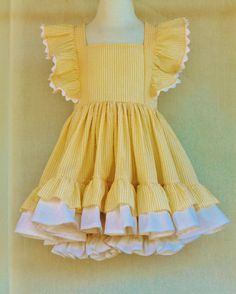 Hey, I found this really awesome Etsy listing at https://www.etsy.com/listing/222304594/girls-butter-cream-flutter-dress-and