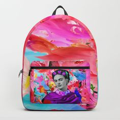 #big #sales 25% OFF EVERYTHING #popart #modernart #andywarhol #contemporaryart #popartist #popsurrealism #popculture #artgallery #mandala #zentangle #mandalaart #mandalas #kidspainting #drawing #blackfriday #fridakahlo  #frida Kids Backpacks, School Backpacks, D Craft, Designer Backpacks, Painting For Kids, Mandala Art, One Size Fits All, Purple, Pink