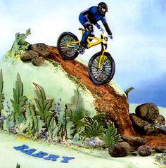 Mountain Bike Cake Decoration cakepins.com