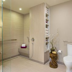 accessible, barrier free, aging-in-place, universal design bathroom remodel - modern - bathroom - austin - Libertas Interior Design Solution...