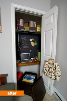 """Great idea for a """"cloffice"""" (closet + office) if you don't have an extra room for an office."""