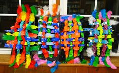 There's a Dragon in my Art Room: Wacky 3-D Weavings Complete!