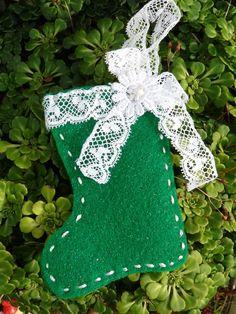 2013 Felt Santa Boot Christmas Tree Ornaments, Felt Hanging Ornament, Christmas Tree Decor Ideas