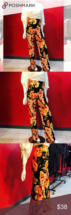 ◾️🌺Floral print flair pant🌺◾️ High waist floral print flair pant - #obsessed with this fit! 😍Control top, Poly stretch material, and flair bottom. Goes great with crop top, tee, solid Tunic, current weather 🌞🌤, and layered for fall🍁🍂we love it! ♥️.                                  SMALL measurements - 22 inches waist, 46inches length (we alter for free). MEDIUM measurements -24 inches waist, 46 inches length. LARGE measurements - 26 inches waist, 48 inches length. (Final price😊)…