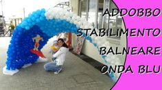 Decorate with balloons for opening party of a beach club #beach #party #wave #beachparty #openingparty
