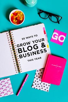 Click through to find out 30 actionable ways to grow your blog and business this year! Time to kick it up a notch and whip some booty!