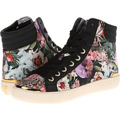 Ted Baker Merip2 Floral and black high-top sneakers