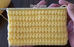 kabarik-ornekli-dilbaz-deseni Master Class, Knitting, Crochet, Baby, Pom Poms, Knitting Patterns, Knitting And Crocheting, Dots, Tejidos