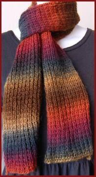 Mochi Plus Easy Scarf - 2 balls - free knit scarf pattern  - Crystal Palace Yarns