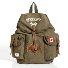 Roots - Beaver Canoe Daypack - Always wanted one of these backpacks. Beaver Canoe, Canadian Canoe, Canadian Clothing, Hammock Tent, Camping Needs, Backpack Purse, Backpacks, Purses, Shoe Bag