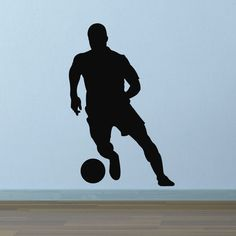 Football Wall Sticker - Ball Control Silhouette - for Kids / Boys and Sport Fans in Home, Furniture & DIY, Home Decor, Wall Decals & Stickers | eBay