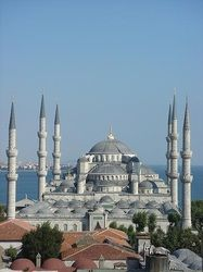 "Blue Mosque Istanbul Turkey  ""Mosque was built between 1609 and 1616 years, during the rule of Ahmed I.""  Week 3"