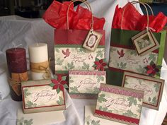 Season's Greetings: cards and gift bags, Stampin' Up