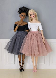 "Tulle skirts for Barbie Shopgirl dress for Barbie ""Chanel"" purses for Barbie Red faux-leather suit Chanel s..."