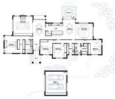 Modern Style House Plan - 4 Beds 2.00 Baths 2788 Sq/Ft Plan #496-4 Floor Plan - Main Floor Plan - Houseplans.com