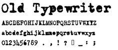 Old Typewriter Messy font