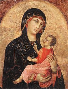 Madonna and Child (no. 593) by Duccio di Buoninsegna, Tempera on wood