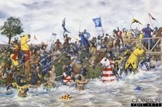 Battle of Stirling Bridge - After Edward 1st proclaimed himself King of Scotland Sir William Wallace rallied Scots in the South West and began attacking English occupying forces around Scotland. Edward I ordered the Earl of Surrey to put down the rebellion,