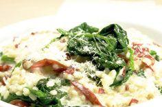 Gerstotto mit Spinat und Bündnerfleisch
