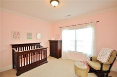 #pink and #brown detailing for a nursery