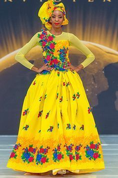 Elegant Tsonga Traditional Dresses For Wedding Party - Fashion South African Fashion, African Fashion Designers, African Fashion Ankara, African Print Dresses, African Dress, African Wear, African Clothes, African Style, African Prints