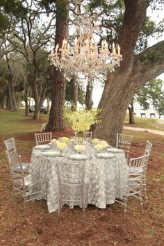 A Beautiful Setting...Accented by Beachview Lighting, Linens & Rentals!  (Cabin Bluff, Georgia)