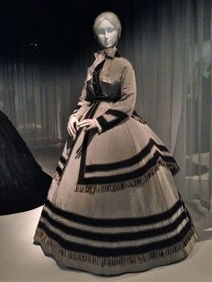 15 Haunting Mourning Fashions at the Met: American Half-Mourning Wedding Ensemble, 1868