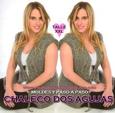 Como tejer chaleco de mujer con dos agujas talle grande Plus Size, Grande, Outfits, Graphic Tank, Tank Tops, Simple, Google, Crafts, Women