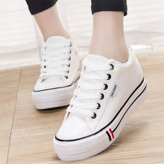 2016 Women casual shoes tenis feminino Breathable women's krasovki fashion hot sale Height Increasing Lace-up chaussure femme