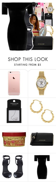 """""""date night contest"""" by geazybxtch24 ❤ liked on Polyvore featuring Rolex, Topshop, Shay, Michael Kors, Alexander Wang and Boohoo"""