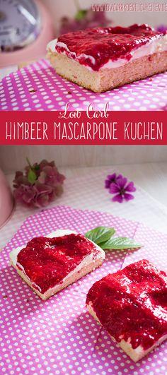 Himmlischer Himbeer Mascarpone Kuchen mit traumhaften low carb Boden www.lowcarbkoestlichkeiten.de #lowcarb #abnehmen #glutenfrei