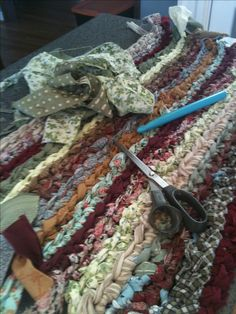crocheted rag rug for the kitchen