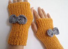 Women Accessories Fingerless gloves knitting by BloomedFlower, $24.00