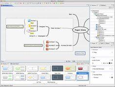 X-Mind. Muy buena herramienta para la creación de mapas conceptuales. Trae varias plantillas, las cuáles se pueden utilizar. Una alternativa diferente para probar!!!