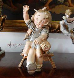 Antique Ceramic Figurine Lenci Art Tiziano Galli Girl Spanking Doll Figure | eBay