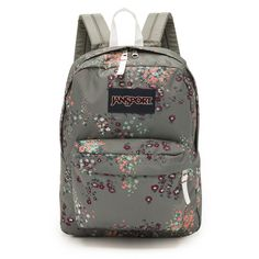 JanSport Superbreak Backpack ($35) ❤ liked on Polyvore featuring bags, backpacks, shady grey sprinkled floral, jansport, floral bag, backpacks bags, flower print backpack and shoulder strap backpack