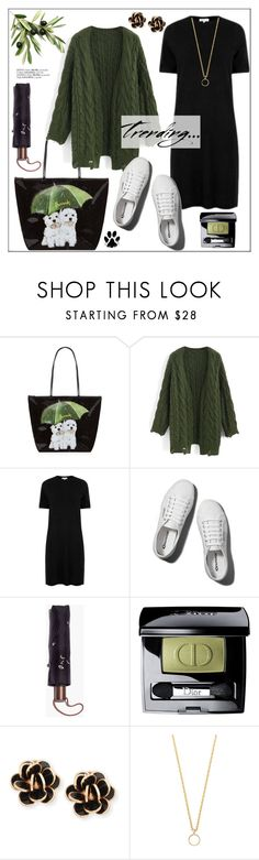 """Shopping at Harrods * Caught in the Rain"" by pat912 ❤ liked on Polyvore featuring Harrods, Chicwish, Warehouse, Abercrombie & Fitch, Madewell, Christian Dior, Chantecler and Glenda López"