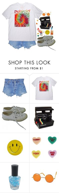 """have a nice trip"" by dahmergirl ❤ liked on Polyvore featuring Polaroid, Superga, Market, Harajuku Lovers and Forever 21"