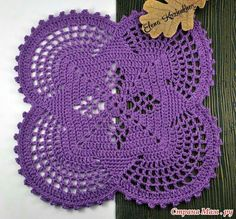Variados de crochê feito tapetes
