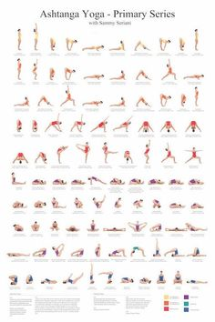 24x36 Ashtanga Yoga Primary Series Poster in digital printable PDF format. This Beautiful poster contains all of the yoga poses in the Ashtanga Primary Series with their Sanskrit Names and their English names. Also the Opening and Closing Chant is included in Sankrit and English, so you can know Yoga Fitness, Fitness Workouts, Physical Fitness, Fitness 24, Fitness Sport, Fitness Motivation, Fitness Tips, Fitness Logo, Health Fitness