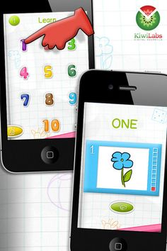 """Talking Numbers Free - Easy math for kids ($0.00 with in-app purchase options)  fun and interactive game teaches how to recognize the numbers from 1 to 10. The application also helps them learn to count and recognize group of objects by the number of the items they have. Your children can also test their knowledge of the first ten numbers through catchy quizzes and tests, including """"Fill the spaces"""" and """"Connect the dots""""."""