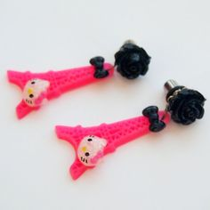 Kitty in Paris Dangle Plugs - Kawaii Kitsch by Glamasaurus.com